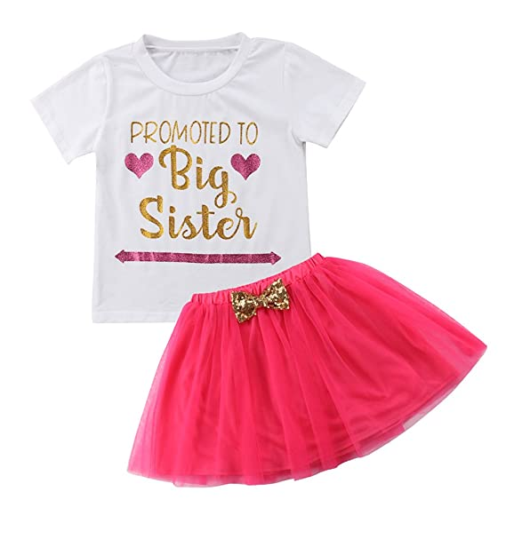 495062373 Guogo Baby Girls' Outfit Big Sister Letter Print T-Shirt Top Blouse Shirts:  Amazon.ca: Clothing & Accessories