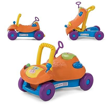 Baby Vivo Correpasillos Coche Andador Para Bebés Niños 2en1 Infantil Juguete Niño Multifuncional - Naranja