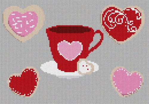 pepita Heart Cookies Needlepoint Canvas ()