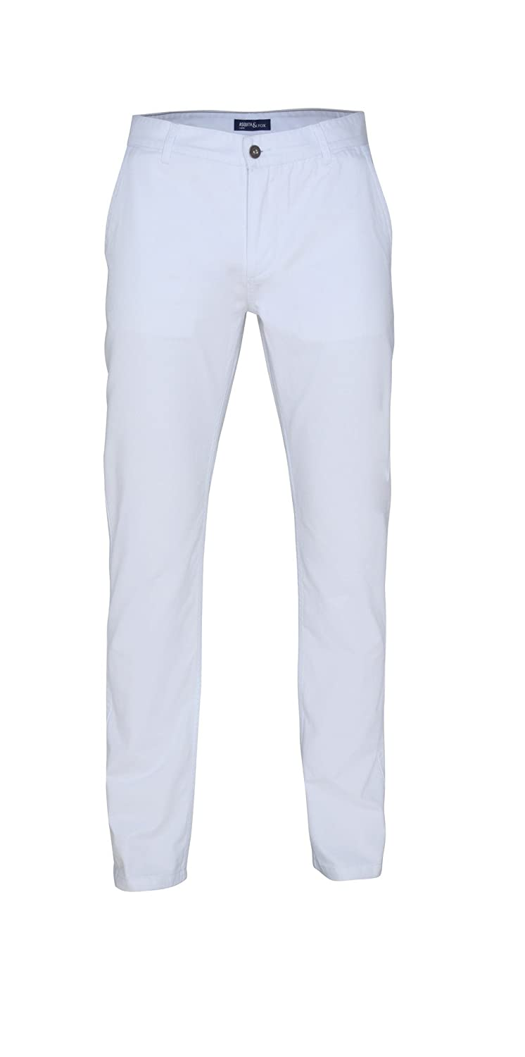 Men's Chino's - White - Regular Fit