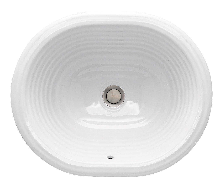 St. Thomas Creations 1009.000.01 Santa Fe Oval Undermount Lavatory Sink With Overflow, White Finish