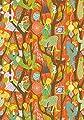 Wall Vision WV1755 Melodi Folk Wallpaper, Orange