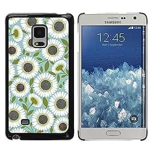 Be Good Phone Accessory // Dura Cáscara cubierta Protectora Caso Carcasa Funda de Protección para Samsung Galaxy Mega 5.8 9150 9152 // Teal Olive Flower Floral Pattern
