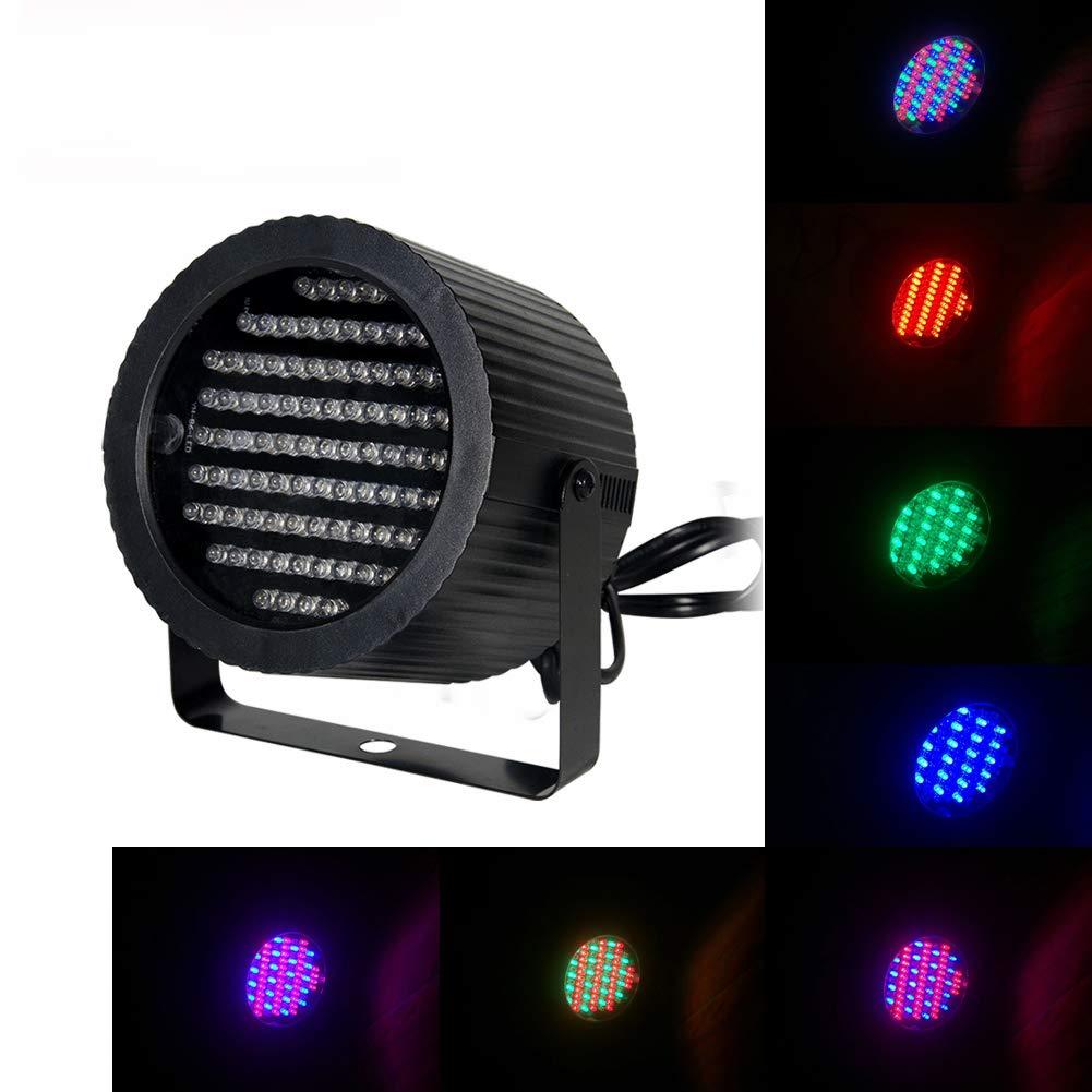 Boulder DJ LED Strobe Par LED flash light Led Uplight RGB PAR Light Mini 86 LEDs 7 Channel DMX512 Colorful Wall Wash for KTV Bar Wedding Festival Party by Boulder DJ