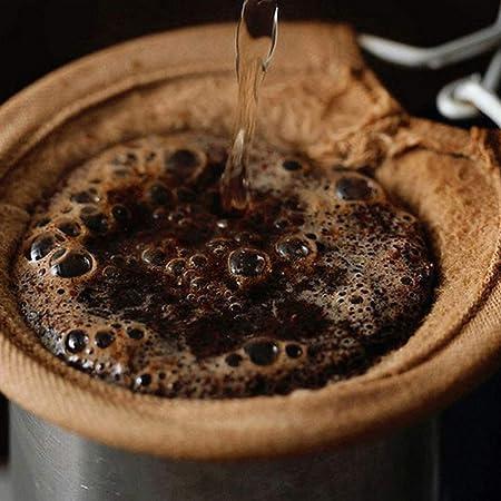 Hemoton Filtros de Café de Tela de Franela de Acero Inoxidable con Mango Colador de Café Reutilizable para Cafetería de Cocina Doméstica