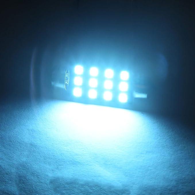 Amazon.com: eDealMax 2 piezas de Hielo Azul Los 41MM 2835 SMD Adorno de la bóveda Interior Mapa Bombilla de luz LED: Automotive