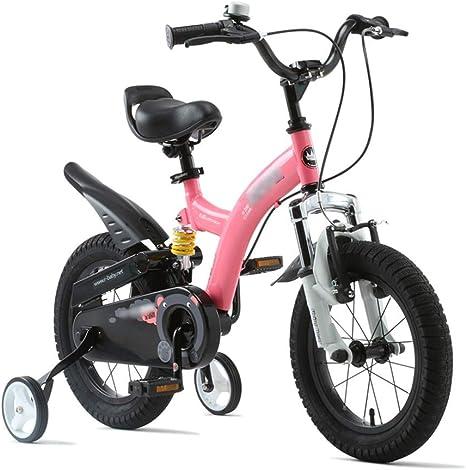 LJJL Bicicleta De Pie para Niños 2-4-6-7-8 Años Bicicleta 14