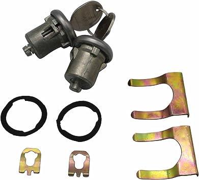 Lockcraft Door Lock Cylinder PAIR FOR LISTED CHEVROLET /& GMC TRUCK /& SUVS