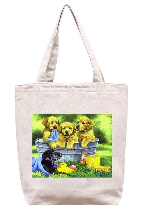 Squeaky para limpia - algodón Canvas Tote Bag: Amazon.es: Hogar