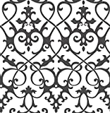 A-Street Prints 2625-21869 Axiom Ironwork Wallpaper, Black