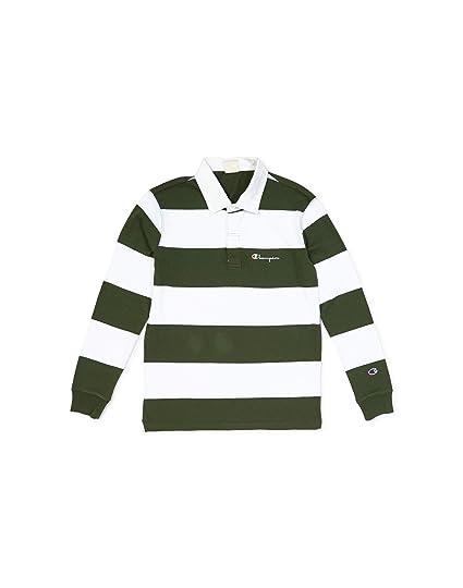 e9c9cced Champion Long Sleeve Polo T-Shirt - Green - XL: Amazon.co.uk: Clothing