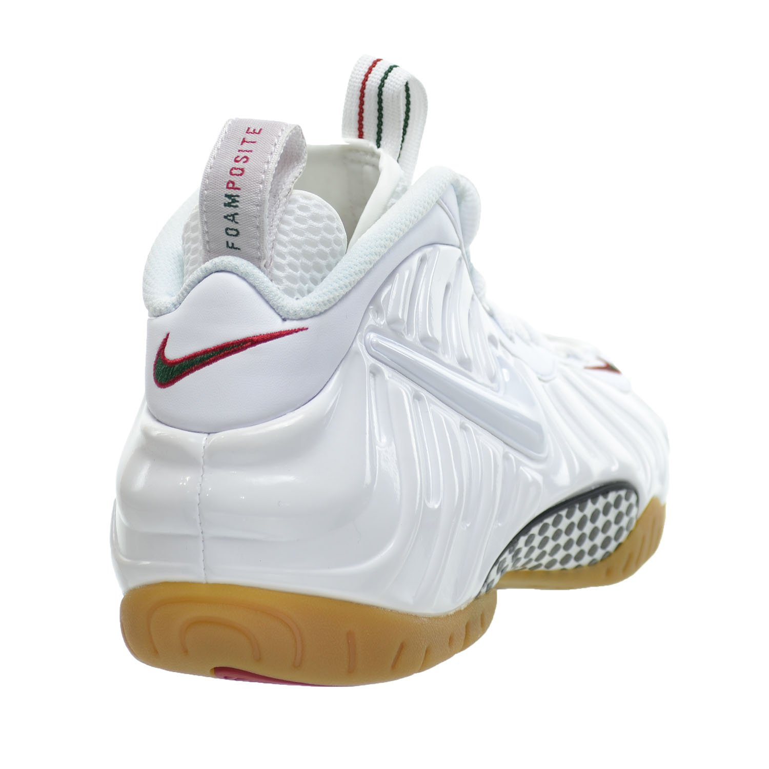 7038cfd25bcd6 Nike Air Foamposite Pro Men's Shoes White/White-Gym Red-Green 624041-102