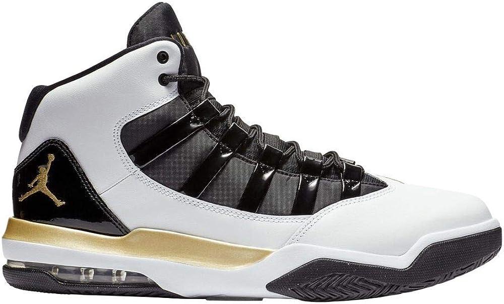White//Metallic Gold-black Nike Jordan Max Aura Mens Mens Aq9084-107 15