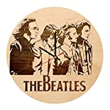 The Beatles Abbey Road natural wood wall clock - Get unique home wall decor - Gift ideas for friend, girlfriend- Unique Music art - Leave us a feedback and win your custom clock