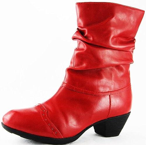 Andrea Conti Invierno Zapatos Botas Botines Rojo 2227, Color Rojo, Talla 38: Amazon.es: Zapatos y complementos