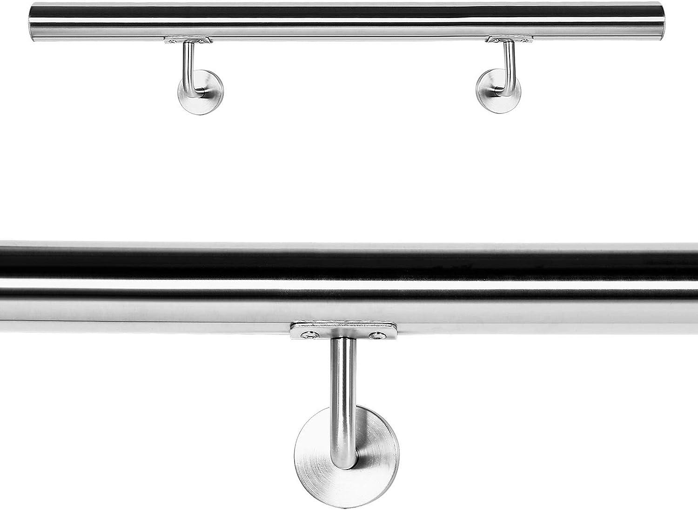 Pasamanos Barandilla Barandas 120cm Escalera Acero Inox V2A