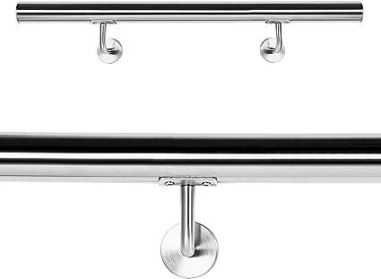 WilTec Pasamanos Barandilla Barandas 120cm Escalera Acero INOX V2A: Amazon.es: Oficina y papelería