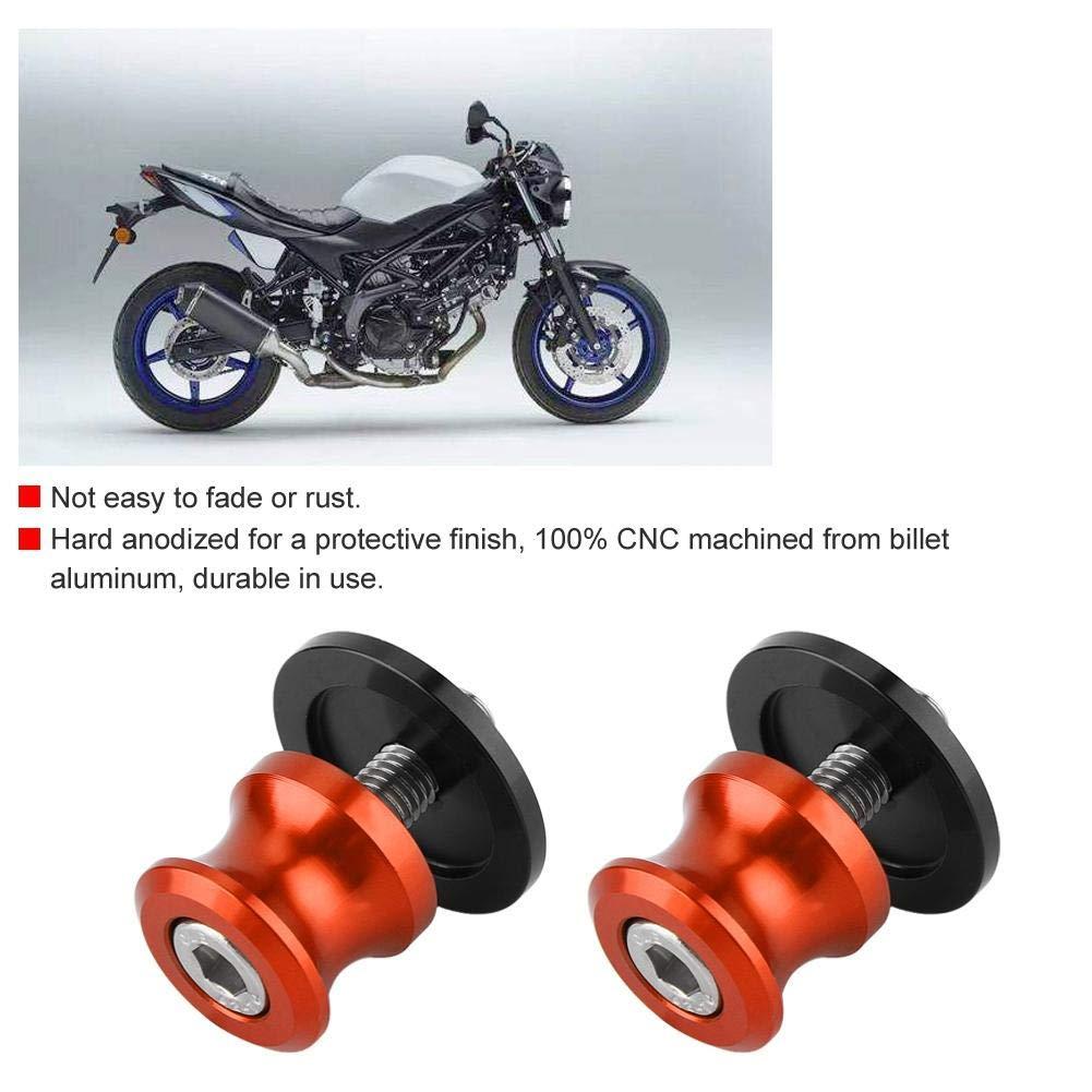 black Senyar Motorcycle Swing Arm Spool,2 pcs 8 mm Motorcycle CNC Rear Stand Swing Arm Motorbike Spool Sliders Stand Swingarm Bobbins