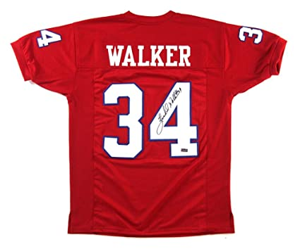 best website 5daef e2d22 Herschel Walker Autographed Jersey - New Generals Red Custom ...