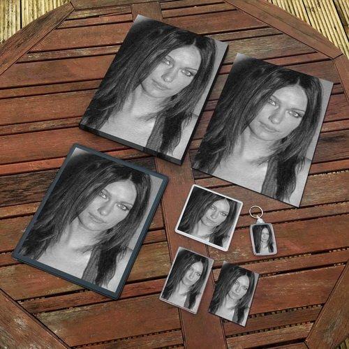 Deanna Russo - Original Art Gift Set #js001 (Includes - A4 Canvas - A4 Print - Coaster - Fridge Magnet - Keyring - Mouse Mat - Sketch Card)