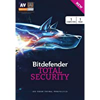 BitDefender Total Security Latest Version (Windows) - 1 User, 1 Year (Activation Key Card)
