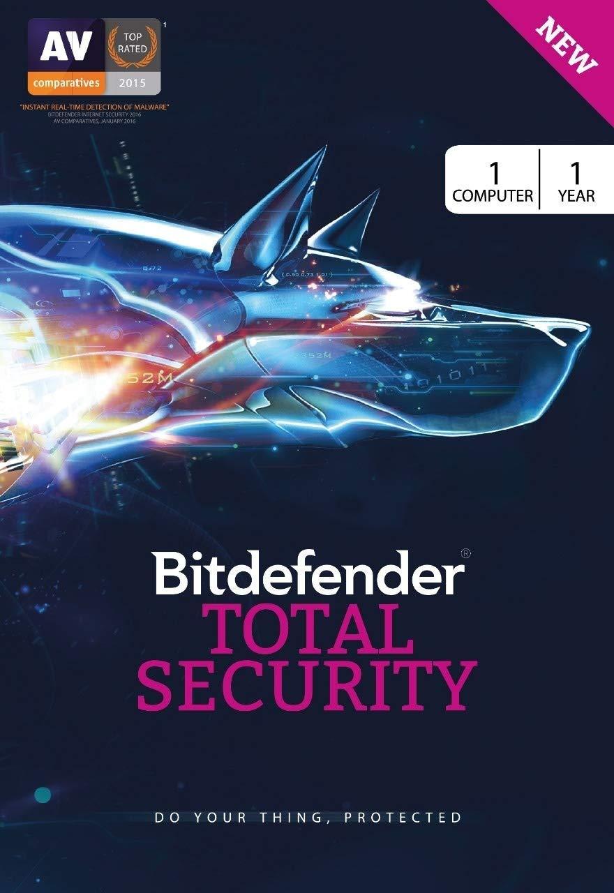 BitDefender Total Security Latest Version (Windows) - 1 User, 1 Year (Activation Key Card)