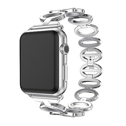 saihui correa de reloj inteligente Reemplazo Pulsera de acero inoxidable banda para Apple reloj 1/