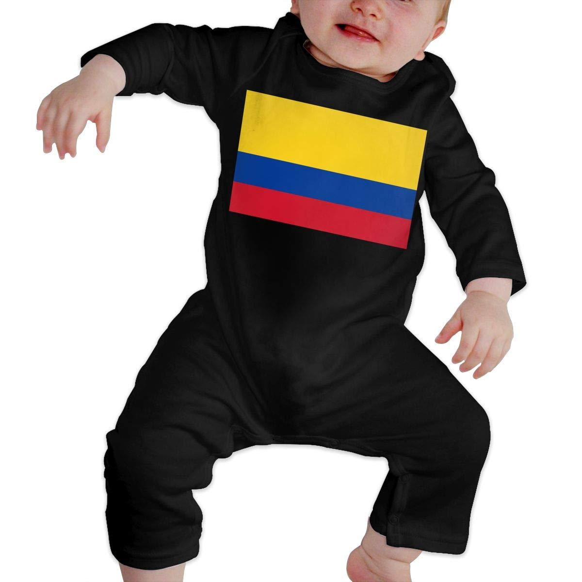 Fashion Colombia Flag Sleepwear U99oi-9 Long Sleeve Cotton Rompers for Unisex Baby
