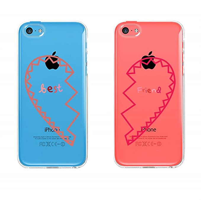 quality design 1ea4c 13568 BFF Clear Phone Covers - Best Friends Hearts Matching Cases for iphone 4,  iphone 5, iphone 5C, Galaxy S3, Galaxy S4, Galaxy S5