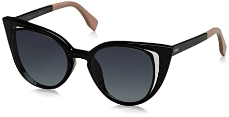 0c43da3a0b5d Image Unavailable. Image not available for. Colour  Fendi Paradeyes Cateye  Sunglasses in Matte Shiny Black FF 0136 S NY1 51 51 Gradient