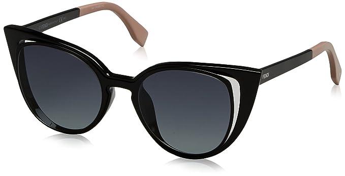 mujeres Ny1 0136s negras Gafas negras Ff para Fendi de sol Hd wPpq8ZxY