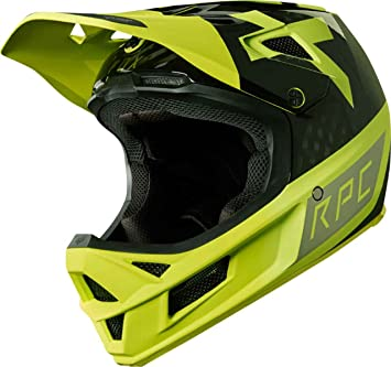 Fox RPC preest Casco, Amarillo/Negro, Tamaño M