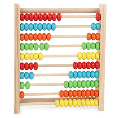 LIUHUAF Learning Abacus Toy, Abacus Classic Wooden Math Numbers Counting Beads Best for 3 4 and 5 Year Old: Toys & Games