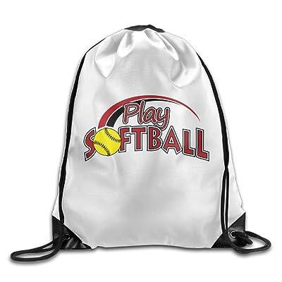 4f0dc9751490 Play Softball Christmas Unisex Gym Drawstring Shoulder Bag Backpack String  Bags lovely