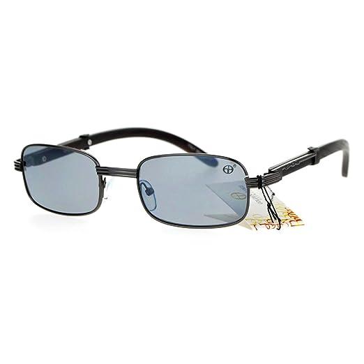 2a262bf3f6e48 SA106 Luxury Wooden Arm Retro 90s Hip Hop Rapper Sunglasses Gunmetal