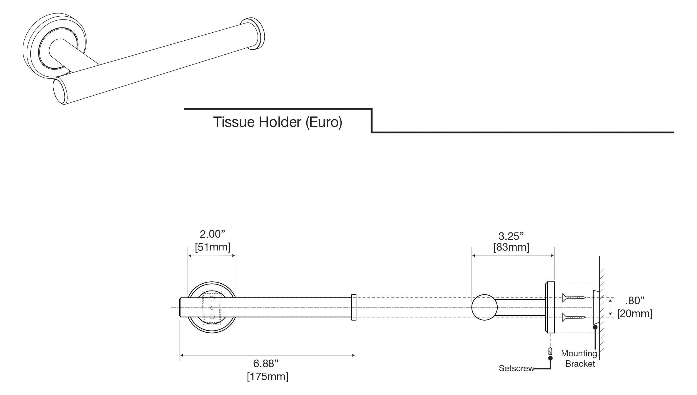Gatco Latitude II Toilet Paper Holder, Brushed Brass by Gatco (Image #3)
