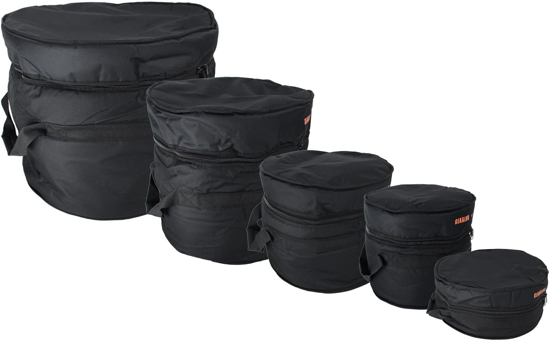 "Gearlux 5-Piece Drum Bag Set for 12"" Tom, 13"" Tom, 14"" Snare, 16"" Floor Tom, 22"" Bass Drum"