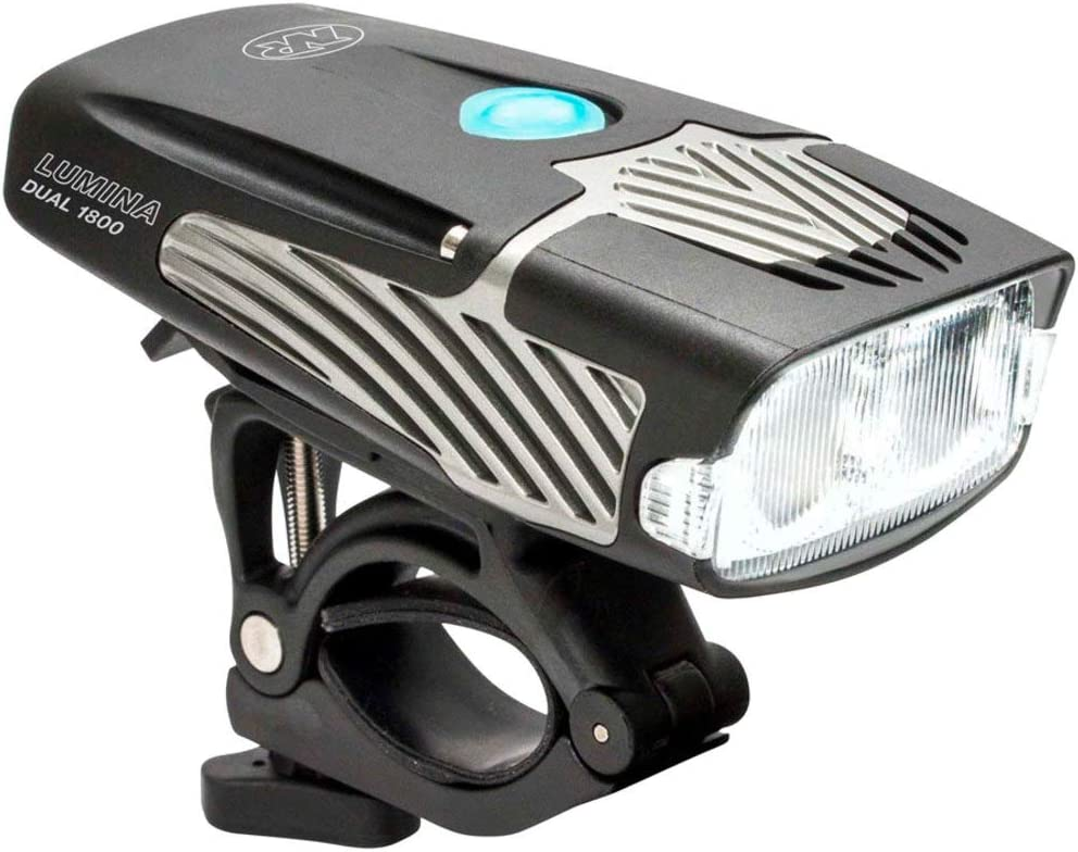 NiteRider Lumina Dual 1800 Rechargeable MTB Road Commuter Twin LED Bike Light Powerful Lumens Water Resistant Bicycle Headlight LED Front Light Easy to Install Cycling Safety