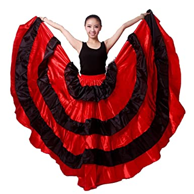 Amazon Spanish Bull Dance Skirt Flamenco Clothing Mexican Costumes Sale