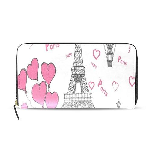 París francés amor romántico largo pasaporte embrague ...