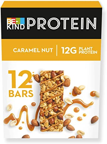 BE KIND Barrita Proteina de Caramelo tostado con frutos secos, paquete de 12 unidades