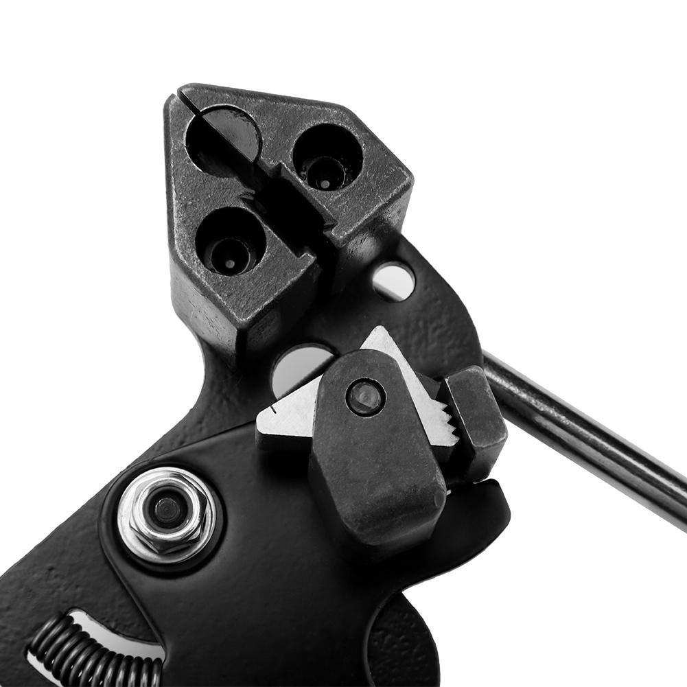 Alicates para bridas de acero inoxidable herramienta de corte y empeine autom/áticos pistola para bridas 65 mangos ancho de corte dentro de 12 mm. de acero S45C