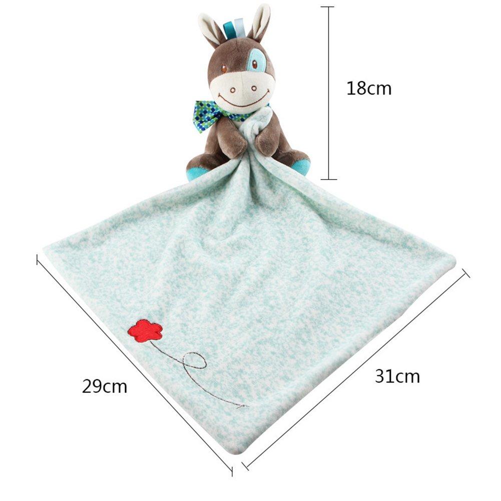 30x29 cm INCHANT beb/é Comfort manta de seguridad Blankie Doudou peque/ño azul burro felpa suave del juguete para el beb/é