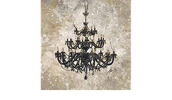 Onyx Chandelier by Marta G Wiley House Home Fancy Dining Print Poster 27.5x27.5