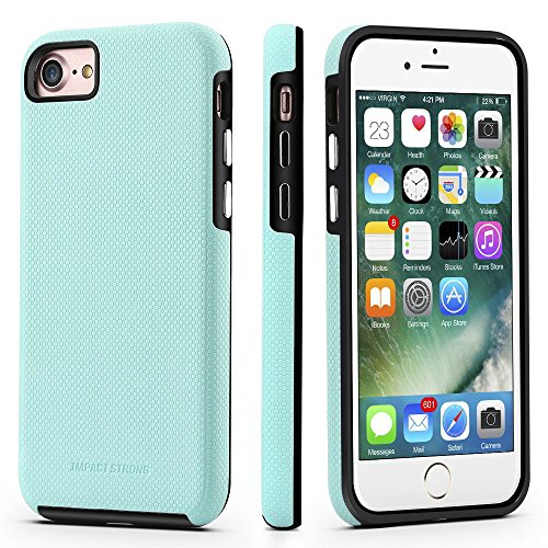 (IMPACTSTRONG iPhone 7/8 Case, Dual Guard Protection Shock-Absorbing Scratch-Resistant Protective Cover for Apple iPhone 7 and iPhone 8 - Mint)