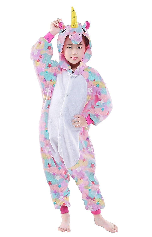 CANASOUR Kids Unicorn Onesie Animal Unisex Pajamas Children 4-10T