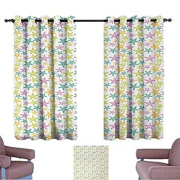 Amazon.com: PCNBDJC Simple Curtain Beautiful Pattern Decor ...