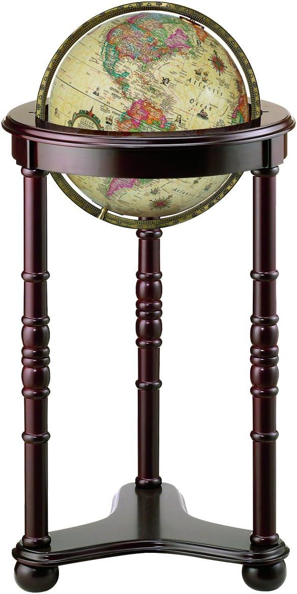 Replogle Globes Lancaster Illuminated Globe, Antique Ocean, 12-Inch Diameter, Large, Off- Off-White