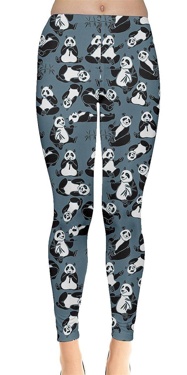 bluee CowCow Womens Animal Digital Print Dog Cats Horses Pigs Hippo Sheep Rabbit Panda Leggings, XS5XL