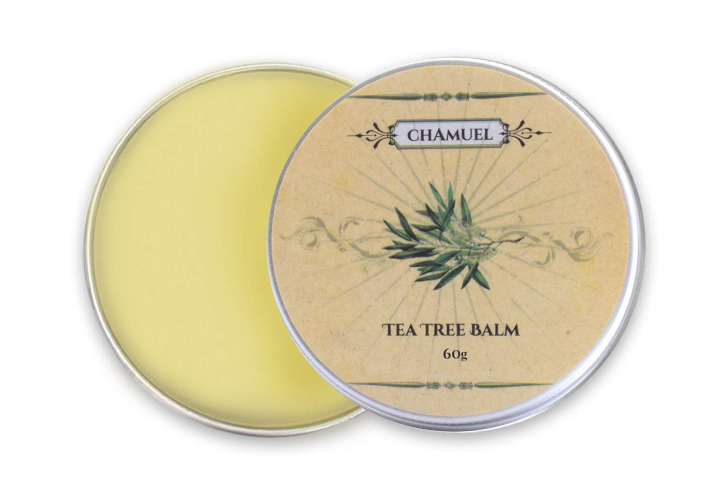 TEA TREE OIL BALM -100% All Natural | Relieves Common Skin Irritations. Great Antifungal Cream for Eczema, Psoriasis, Rashes, Dry Chapped Skin, Cuticles, Hemorrhoids, Saddle Sores and more! Guaranteed by Chamuel